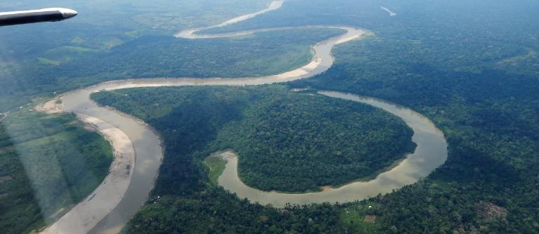 Survol de l'Amazonie à Acre, Brésil